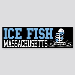 Ice Fish Massachusetts Bumper Sticker