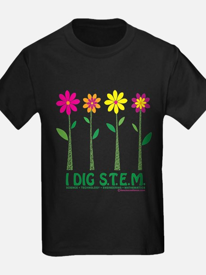 Flower Design STEM T-Shirt