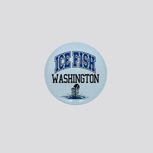 Ice Fish Washington Mini Button