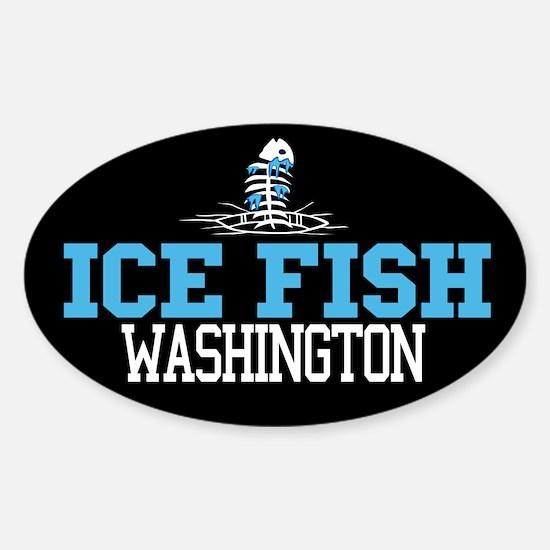 Ice Fish Washington Oval Decal