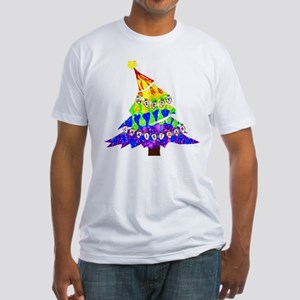 GLBT Merry Christmas Tree - Fitted T-Shirt