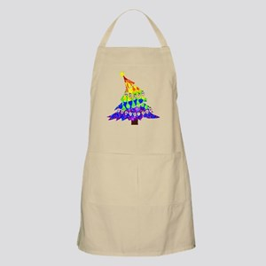 GLBT Merry Christmas Tree - BBQ Apron