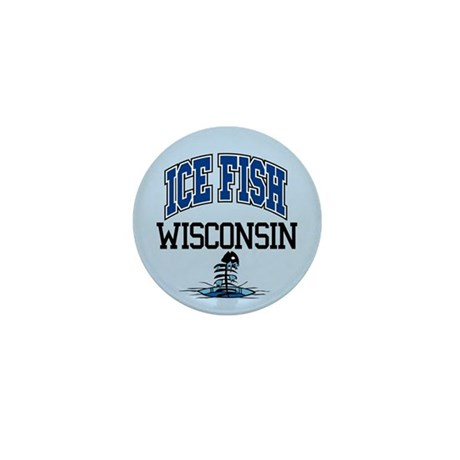 Ice Fish Wisconsin Mini Button (10 pack)