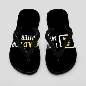 Childhood Cancer: Gold For My Daughter Flip Flops