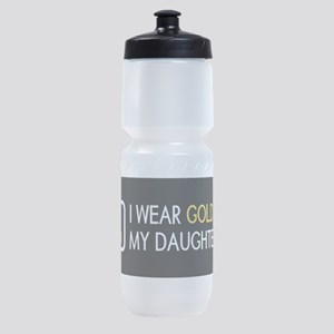 Childhood Cancer: Gold For My Daught Sports Bottle