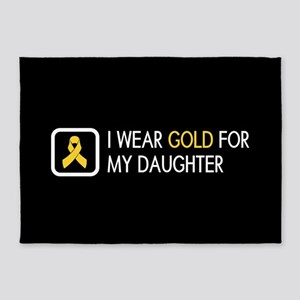 Childhood Cancer: Gold For My Daugh 5'x7'Area Rug