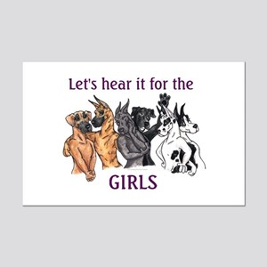 Let'sHearIt4Girls Great Danes Mini Poster Print