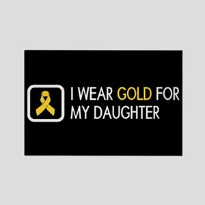 Childhood Cancer: Gold For My Dau Rectangle Magnet