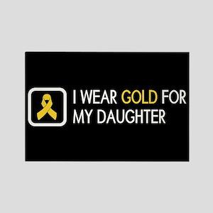 Childhood Cancer: Gold For My Dau Rectangle Magnet