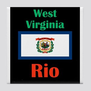 Rio West Virginia Tile Coaster