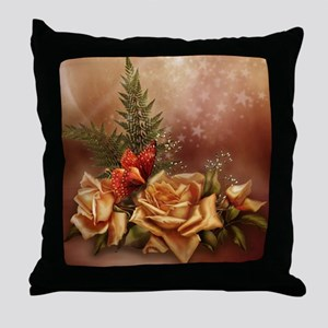 Romantic Rose Fantasy Throw Pillow