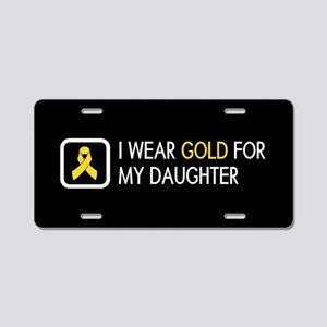 Childhood Cancer: Gold For Aluminum License Plate