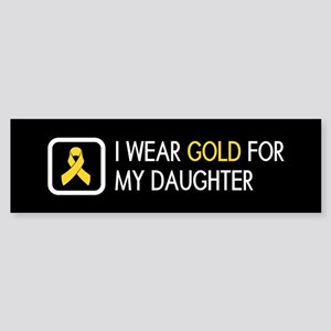 Childhood Cancer: Gold For My Dau Sticker (Bumper)