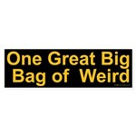 Bag of Weird Bumper Sticker