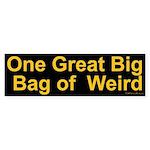 Bag of Weird Bumper Sticker