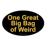 Bag of Weird Oval Sticker