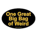 Bag of Weird Oval Sticker