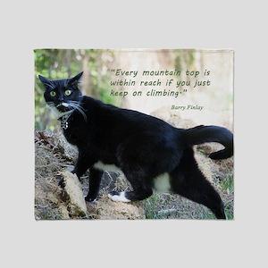 Mounteneering cat Throw Blanket