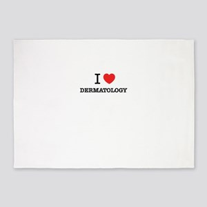 I Love DERMATOLOGY 5'x7'Area Rug