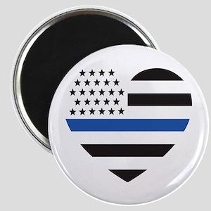 Blue Lives Matter Heart Magnet