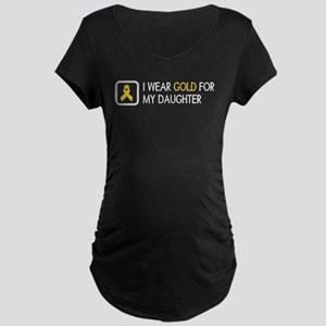 Childhood Cancer: Gold For Maternity Dark T-Shirt