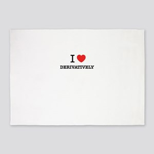 I Love DERIVATIVELY 5'x7'Area Rug