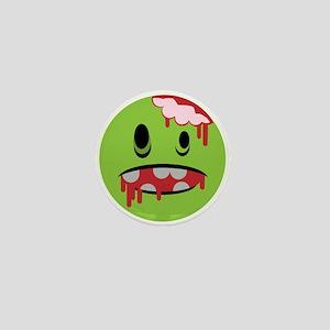 unhappy undead zombie smiley Mini Button
