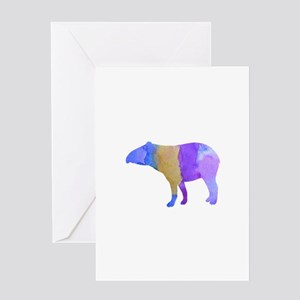 Tapir Greeting Cards