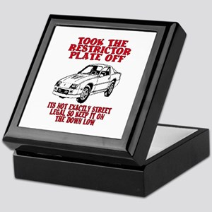 RESTRICTOR PLATE OFF.. Keepsake Box