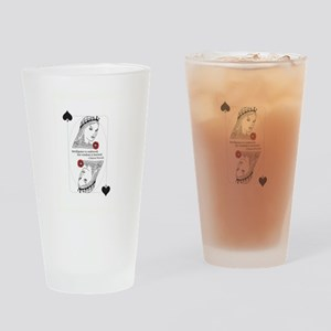 Queen of Spades Drinking Glass