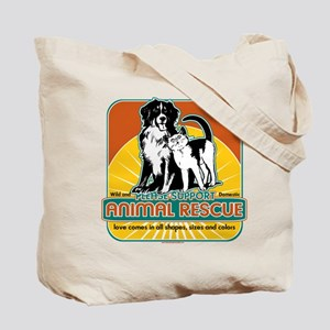 Animal Rescue Dog and Cat Tote Bag