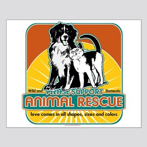 Animal Rescue Dog and Cat Small Poster