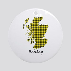 Map - Barclay dress Round Ornament