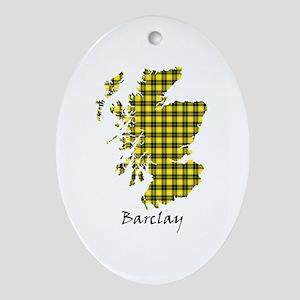 Map - Barclay dress Oval Ornament