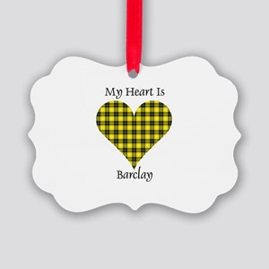 Heart - Barclay dress Picture Ornament