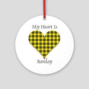 Heart - Barclay dress Round Ornament
