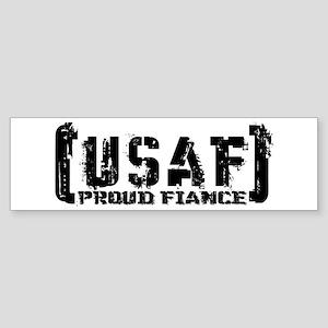 Proud USAF Fiance - Tatterd Style Bumper Sticker