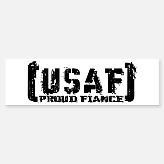 Proud USAF Fiance - Tatterd Style Bumper Bumper Bumper Sticker