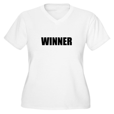 WINNER Women's Plus Size V-Neck T-Shirt