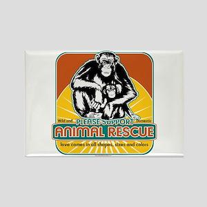 Animal Rescue Chimpanzee Rectangle Magnet