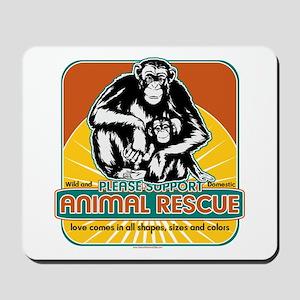 Animal Rescue Chimpanzee Mousepad