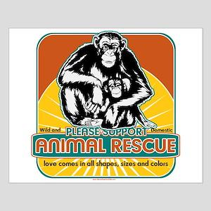 Animal Rescue Chimpanzee Small Poster