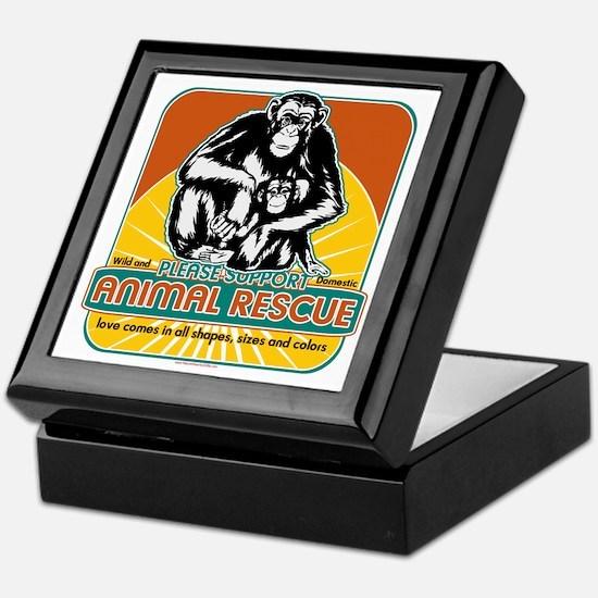 Animal Rescue Chimpanzee Keepsake Box