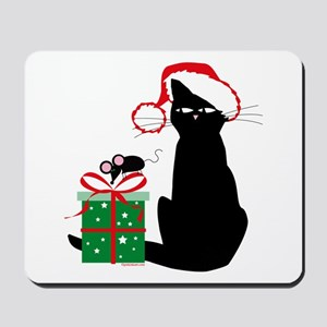 Santa Cat & Mouse Mousepad