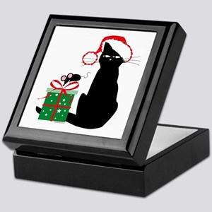 Santa Cat & Mouse Keepsake Box