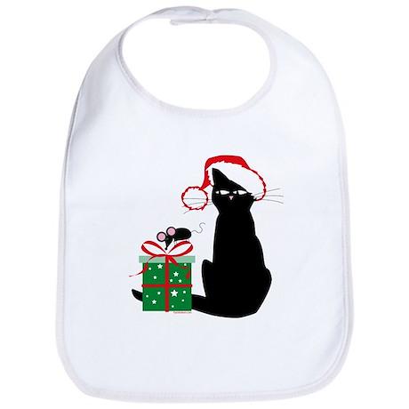 Santa Cat & Mouse Bib