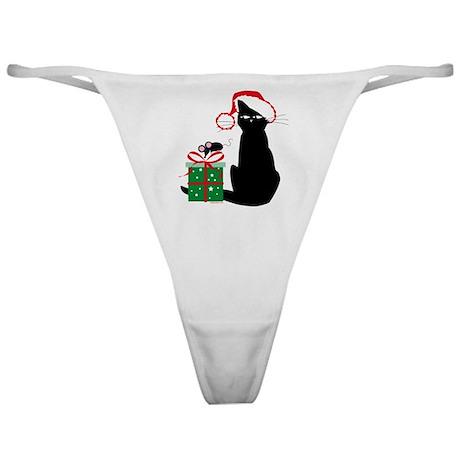 Santa Cat & Mouse Classic Thong