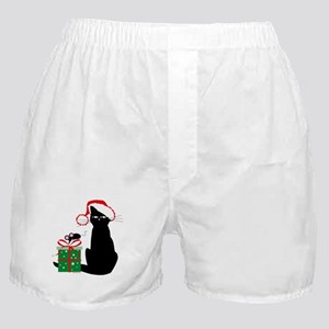 Santa Cat & Mouse Boxer Shorts