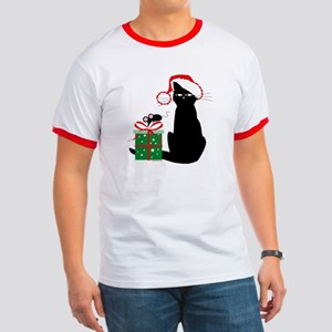 Santa Cat & Mouse Ringer T