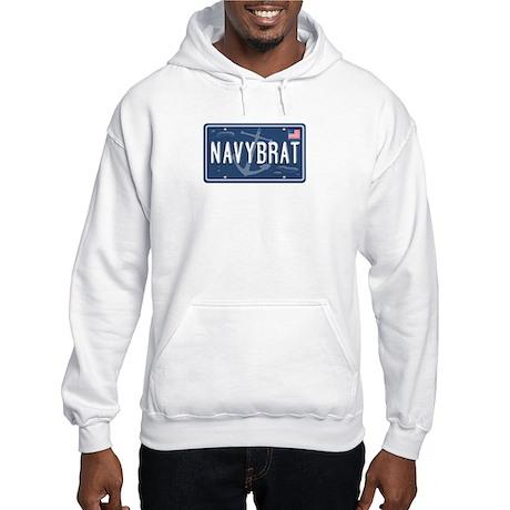 """""""Navy Brat Vanity Plate"""" Hooded Sweatshirt"""